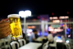 夜景とビール